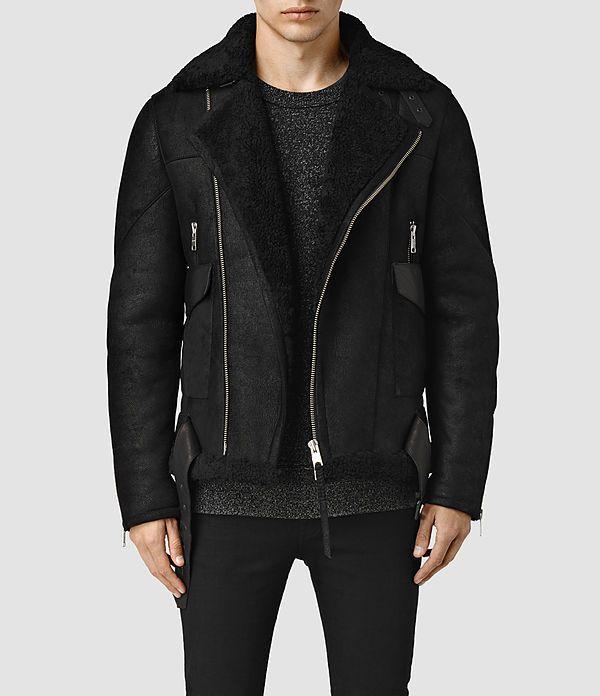 Mens Takoma Shearling Jacket (Black) - product_image_alt_text_1