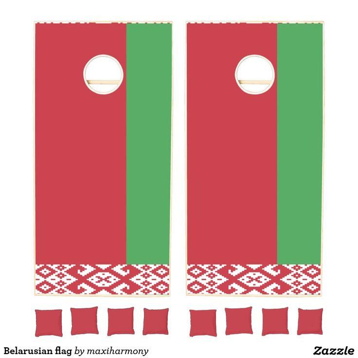 Belarusian flag cornhole set