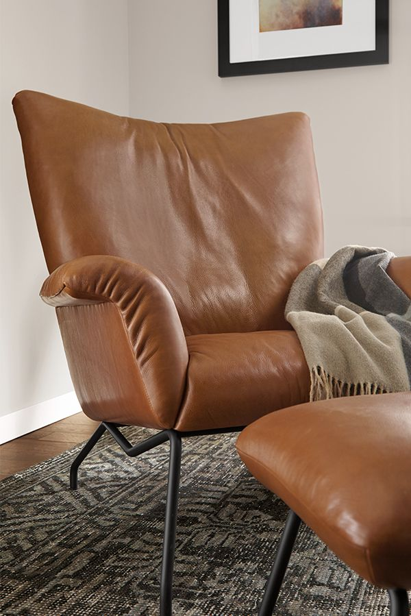 Paris Leather Chair Ottoman Modern Accent Lounge Chairs Modern Living Room Furniture Room Board Modern Leather Chair Chair And Ottoman Leather Lounge Chair