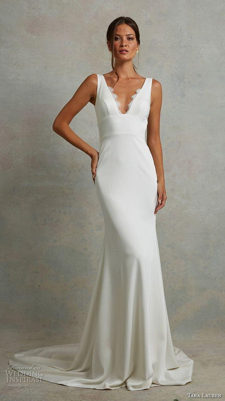 Tara Lauren Spring 2018 Wedding Dresses Wedding Inspirasi Fitted Wedding Dress Fit And Flare Wedding Dress Short Wedding Dress [ 1311 x 736 Pixel ]