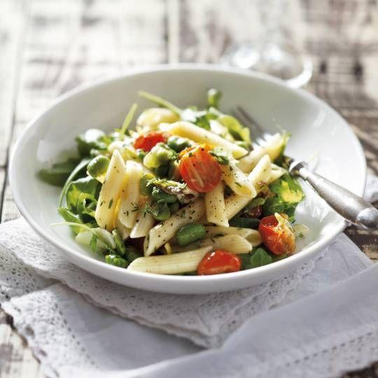Recept - Pasta met kerstomaat, ansjovis en tuinbonen - Boodschappenmagazine