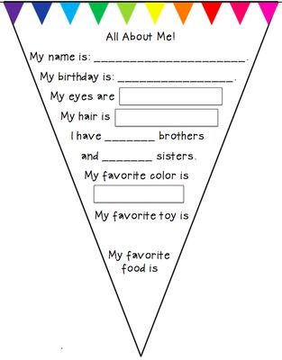 All About Me Pennant Freebie from Preschool Wonders on TeachersNotebook.com -  (4 pages)  - A simple 'All About Me' pennant. Great to use at the beginning of the year or with your 'All AboutMe' theme.