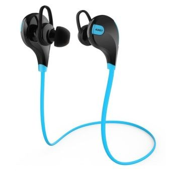 Buy AUKEY Bluetooth 4.1 Wireless Stereo Sport Headphones Running Gym Exercise Sweatproof Earphones with AptX, Built-in Mic for iPhone, Samsung, Android Smartphones (Blue) online at Lazada. Discount prices and promotional sale on all. Free Shipping.
