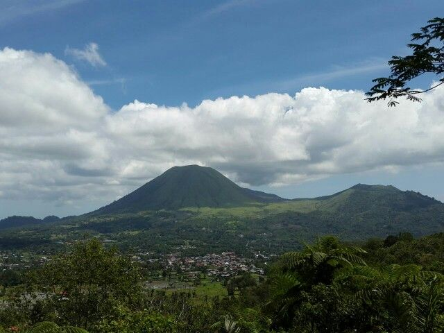 "View of Mt. Lokon from ""Bukit Doa"""