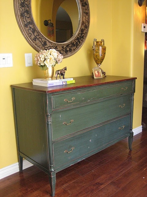 New I think I ud like to make some old furniture go green