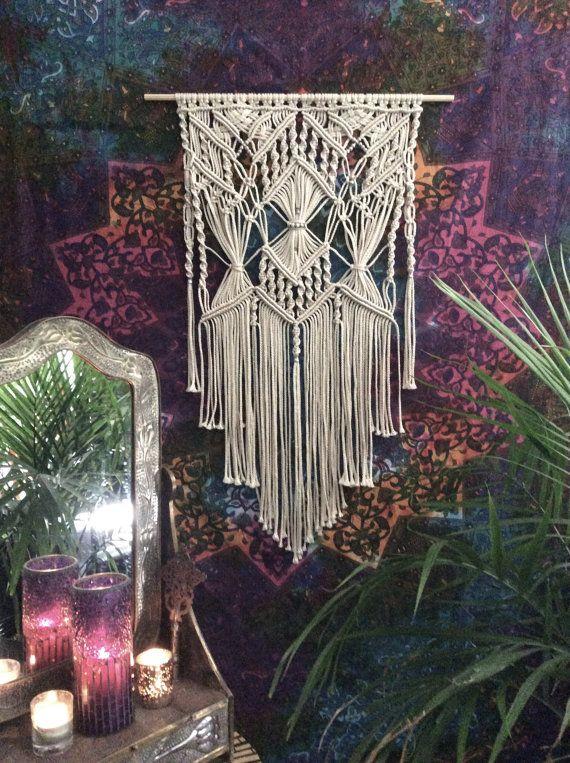 Macrame Wall Hanging, Tapestry, Modern Macrame, Woven Wall Hanging, Bohemian…