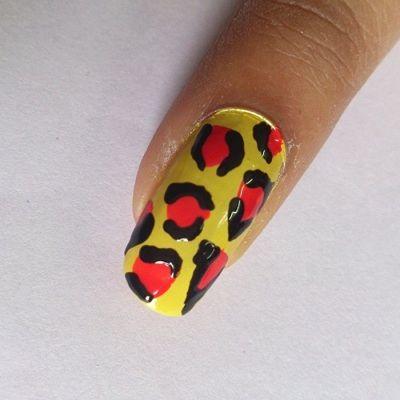 Nail Art Leopardo DIY Nail