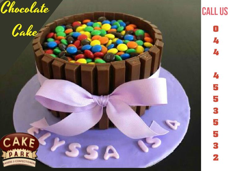 Designer #Chocolate bunch cake filled with gems Ice cake.  Find the #Chocolate #cake and other cakes at #Cake #park  Call us: 044-45535532
