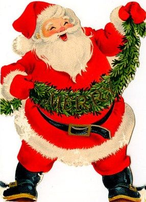 Love this retro Santa! He is just so ho, ho, happy.  *<(( :o>