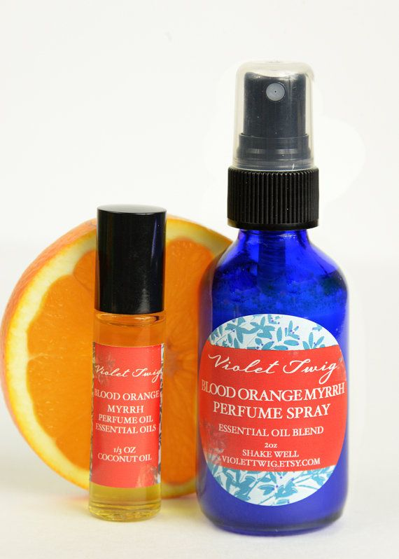 Organic Blood Orange Organic Perfume by VioletTwigAromatics