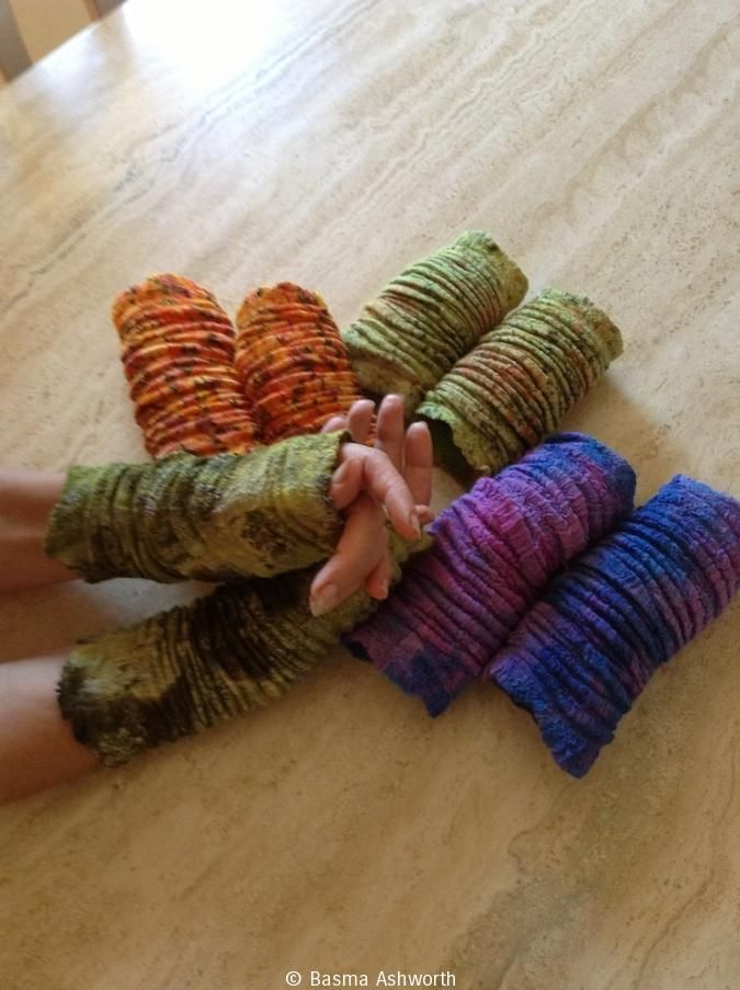 Felted Wrist Warmers