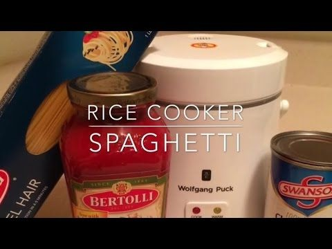 Spaghetti in the rice cooker - YouTube - https://www.youtube.com/watch?v=o91irEzg3Vg