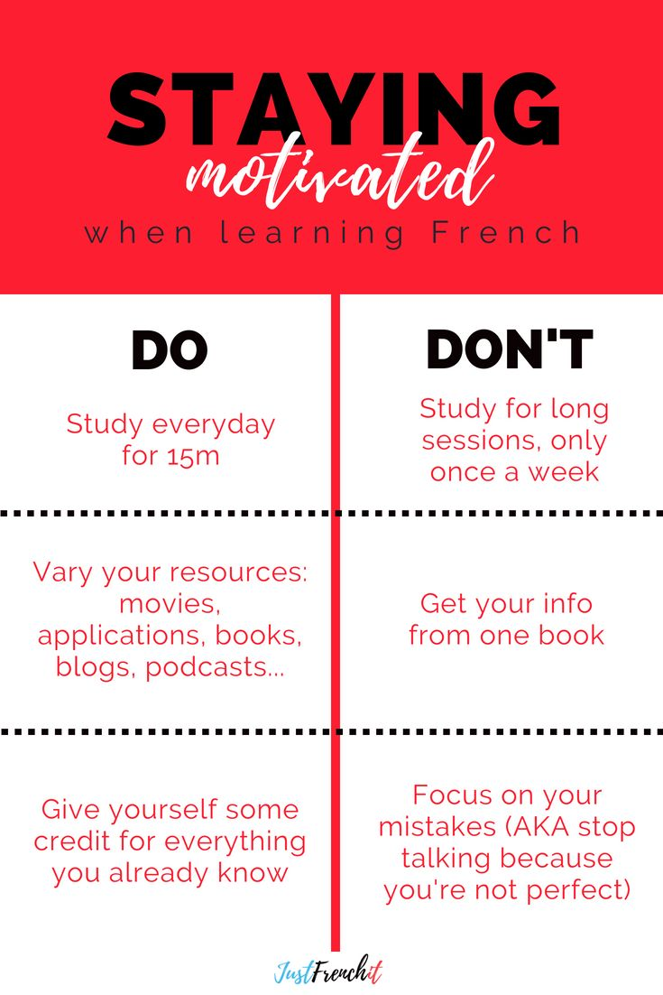 10 tips to stay motivated when learning French