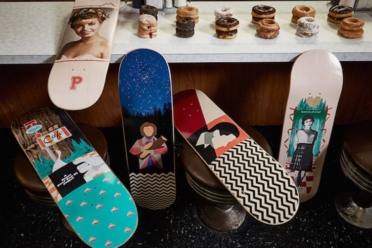 Skateboarders can now buy 'Twin Peaks'-themed decks and more thanks to a new collab between David Lynch and Habitat Skateboards.