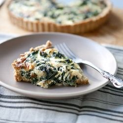 Winter Greens & Gruyere Tart with a Cornmeal Millet Crust | Whole ...
