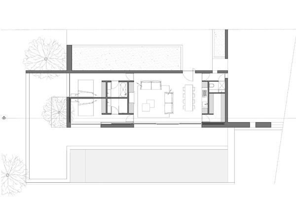 Plan of Concrete S House by Nicholas Schuybroeck in Cap D'Antibes, Remodelista