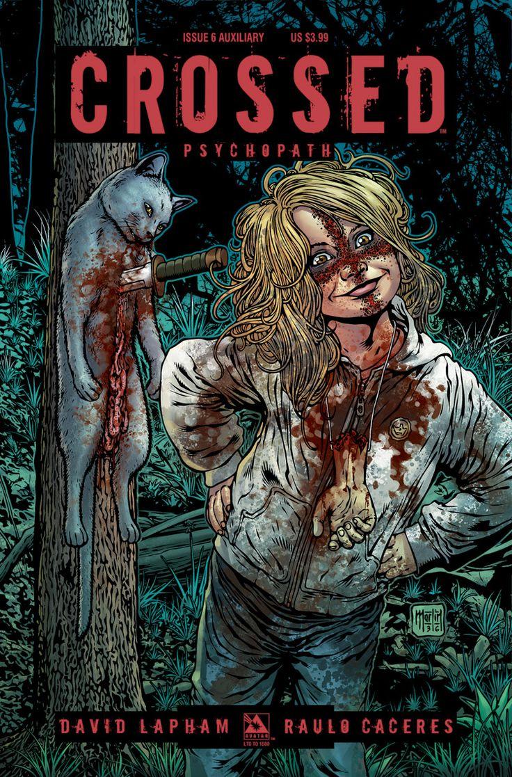 """""""Crossed-Psychopath"""", abril 2012, guión David Lapham, dibujo Raulo Cáceres."""