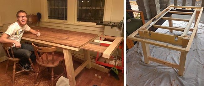 The Tobins: Building A Pottery Barn Benchwright Table With