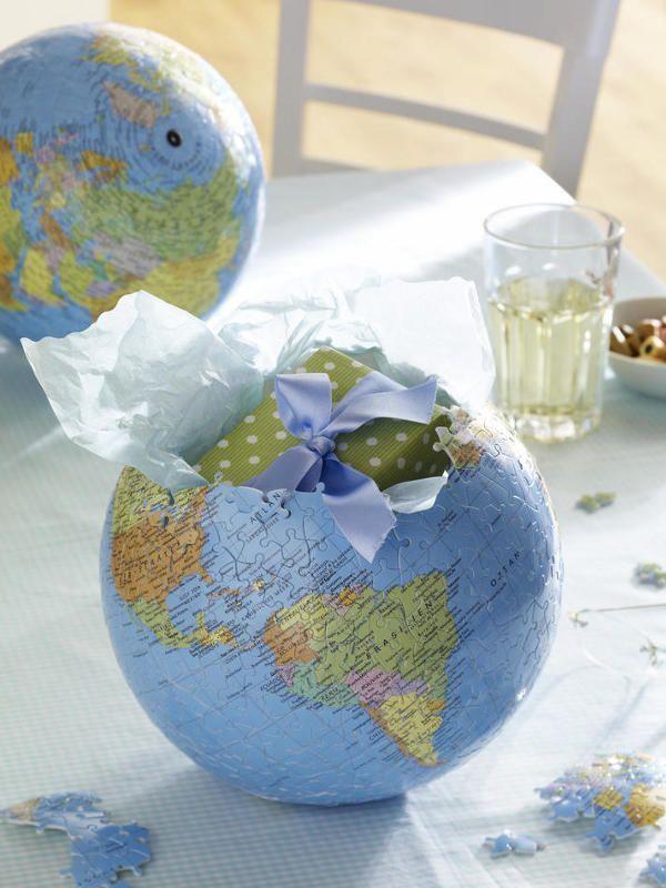 Geschenke zum Selbermachen: Puzzleball als Verpackung