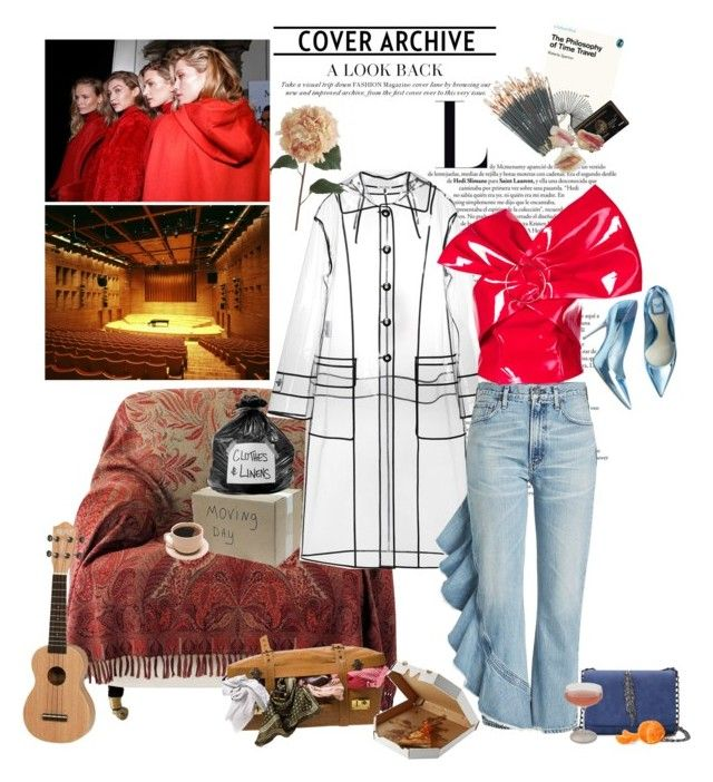 """blow all my friendships, to sit in hell with you"" by nightgown ❤ liked on Polyvore featuring OKA, OUTRAGE, Miu Miu, Citizens of Humanity, Seen, Piel Leather, Pier 1 Imports and Schott Zwiesel"