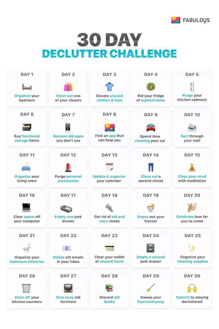 30 Tage Declutter Challenge – #Challenge #Declutte…