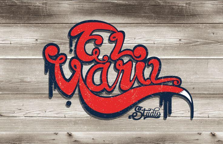 """LOGO """"El Varil Studio"""", illustrator y photoshop"""
