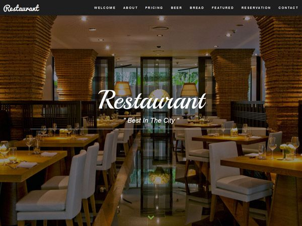 27 Free Restaurant & Cafe Website Templates
