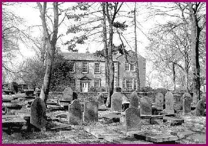 The old Parsonage at Haworth, which was the home of the Bronte family.