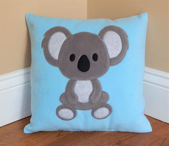 These soft and cuddly pillows are the perfect touch for any child's bedroom. Made from soft fleece with felt accents Handmade 14X14 inch pillows Machine washable Made in a smoke-free and pet-free environment