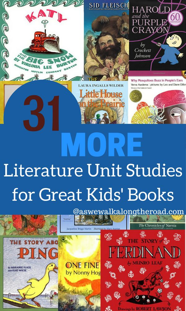 Do you love literature unit studies? I'm sharing thirty-one unit studies based on great kids' books. Find ideas for extending these books with cross-curricular activities as well as reading lists that correspond with each book.