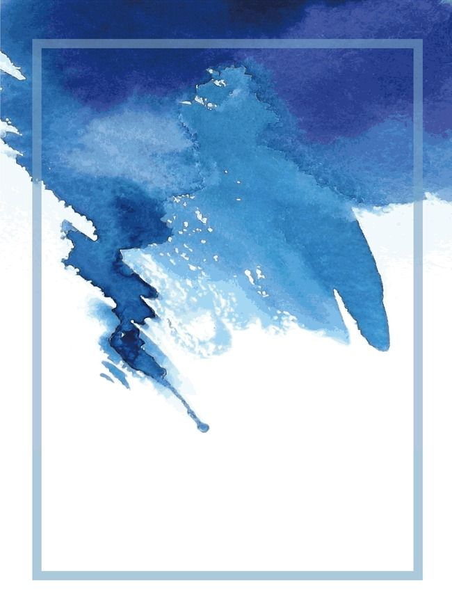 Blue Ink Watercolor Background Watercolor Background