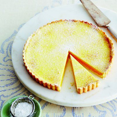 Classic Lemon Tart (plus I-should've-thought-of-that instructions for removing the tart from the pan!)
