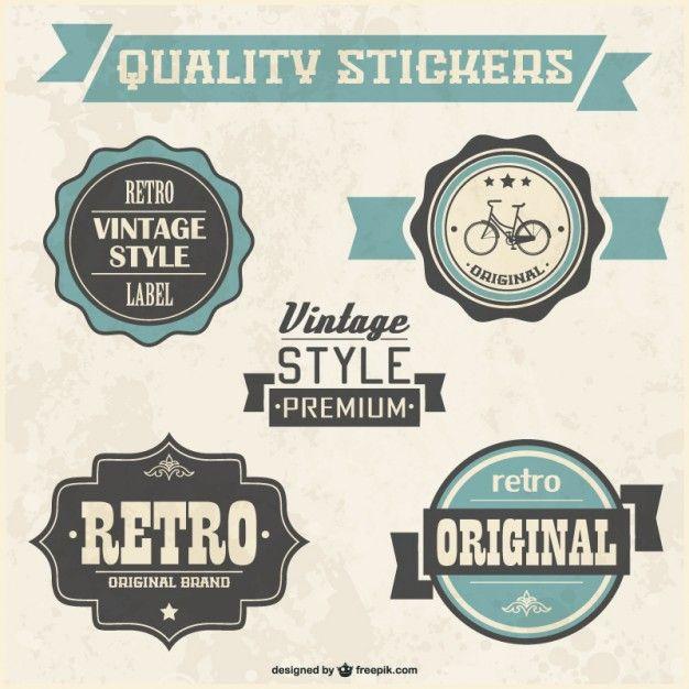free download, vintage vector emblems: Retro badges