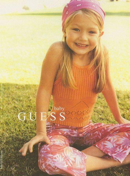 Для рекламной кампании Baby Guess.