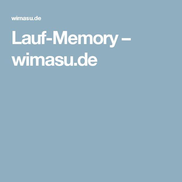 Lauf-Memory – wimasu.de