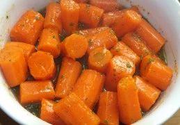 Recept voor Worteltjes met honing en mosterd
