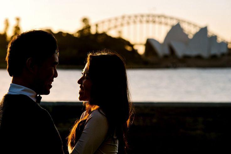 Sydney skyline engagement photos