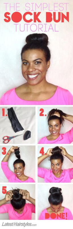 The Easiest Sock Bun Tutorial You'll Ever See