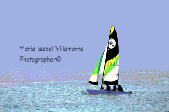 8x12  Boat sailing in holguin cuba fine art by IzabelleCollections, $25.00