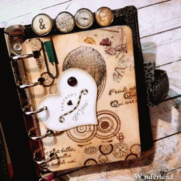 Lucy-Wonderland's steampunk filofax setup
