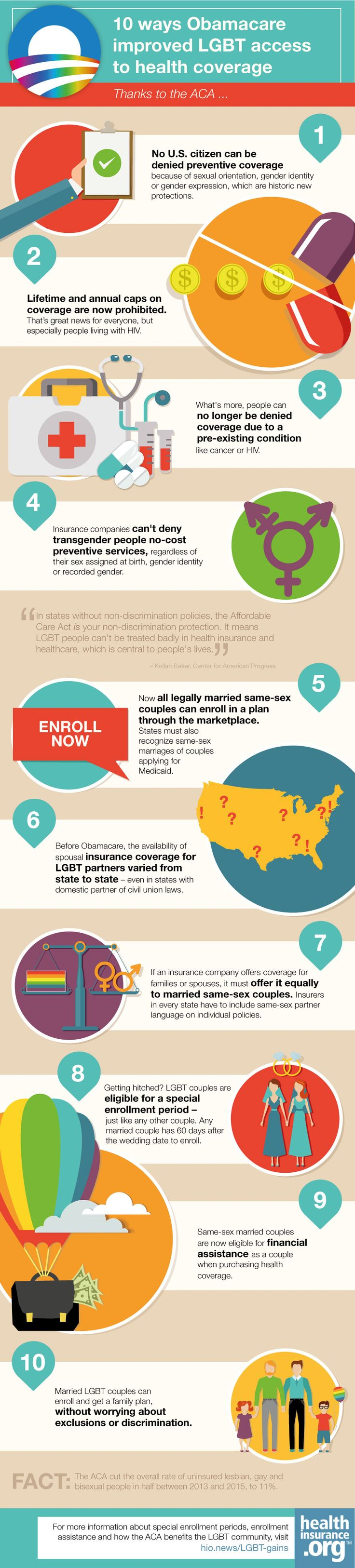 10 ways Obamacare improved LGBT access to health coverage http://www.healthinsurance.org/10-ways-obamacare-improved-lgbt-access-to-health-coverage/