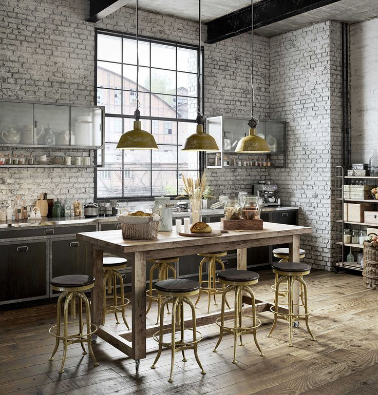 Sototally industrial Thats also a loft  Home decor Inspirations  Industrial kitchen