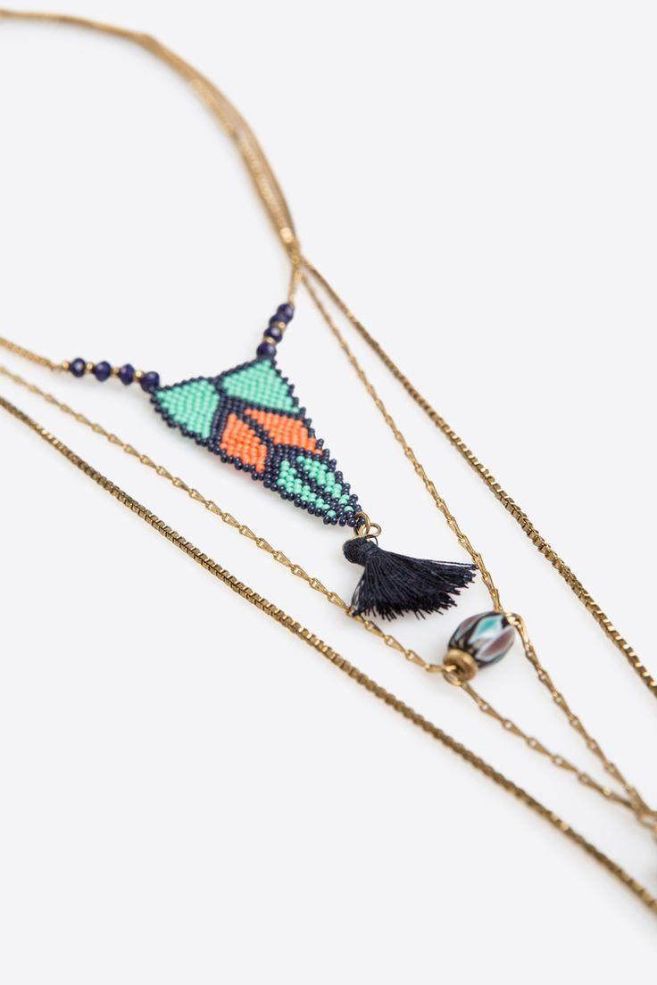 Women'secret - Long necklace with pompom
