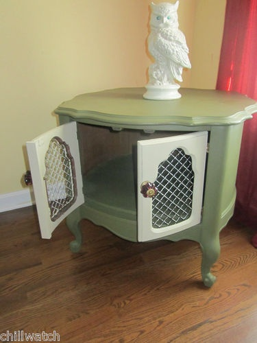 french provincial shabby retro chic table olive green annie sloan chalk paint olives colors. Black Bedroom Furniture Sets. Home Design Ideas