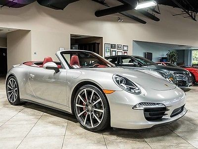 2013 Porsche 911 Carrera 4S Cabriolet MSRP $135k+ Carrera Red Leather LOADED