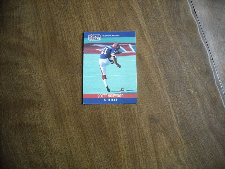 Scott Norwood Buffalo Bills K Card No. 42 (FB42) 1990 NFL Football Card - for sale at Wenzel Thrifty Nickel ecrater store