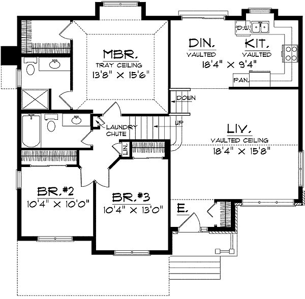 Wonderful Plan 8963AH: Split Level Home Plan