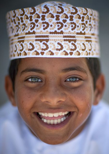 Smiling child in Masirah Island, Oman.
