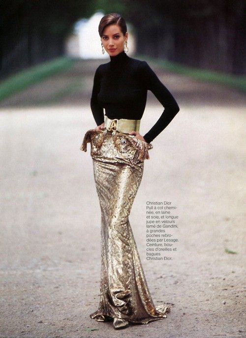 Christy in gold