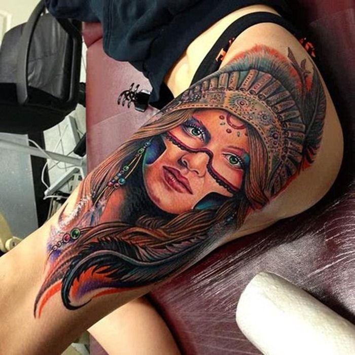 tumblr tattoo ideas Cool Leg Tattoo Designs for Girls 345